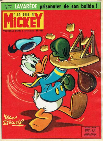 Cover for Le Journal de Mickey (Disney Hachette Presse, 1952 series) #591