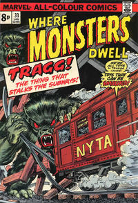 Cover Thumbnail for Where Monsters Dwell (Marvel, 1970 series) #33 [British price variant.]