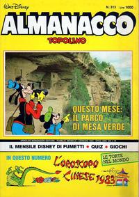 Cover Thumbnail for Almanacco Topolino (Arnoldo Mondadori Editore, 1957 series) #313