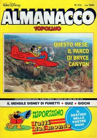 Cover Thumbnail for Almanacco Topolino (Arnoldo Mondadori Editore, 1957 series) #314