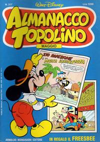 Cover Thumbnail for Almanacco Topolino (Arnoldo Mondadori Editore, 1957 series) #317