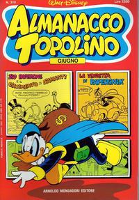 Cover Thumbnail for Almanacco Topolino (Arnoldo Mondadori Editore, 1957 series) #318