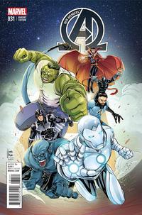Cover Thumbnail for New Avengers (Marvel, 2013 series) #31 [Laura Braga Variant]