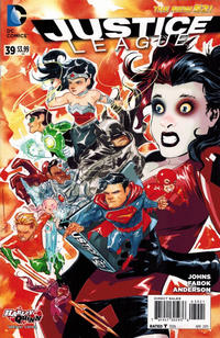Cover Thumbnail for Justice League (DC, 2011 series) #39 [Harley Quinn Cover Variant]