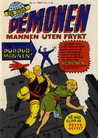 Cover Thumbnail for Demonen (Serieforlaget / Se-Bladene / Stabenfeldt, 1968 series) #4/1968