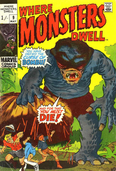 Cover for Where Monsters Dwell (Marvel, 1970 series) #9