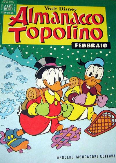 Cover for Almanacco Topolino (Arnoldo Mondadori Editore, 1957 series) #254
