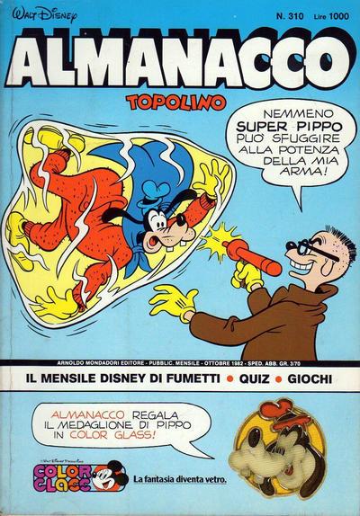 Cover for Almanacco Topolino (Arnoldo Mondadori Editore, 1957 series) #310