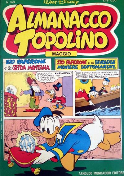 Cover for Almanacco Topolino (Arnoldo Mondadori Editore, 1957 series) #329