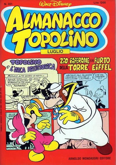 Cover for Almanacco Topolino (Arnoldo Mondadori Editore, 1957 series) #331