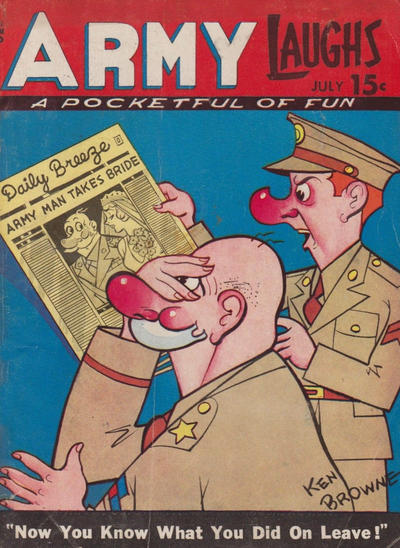 Cover for Army Laughs (Prize, 1941 series) #v5#4