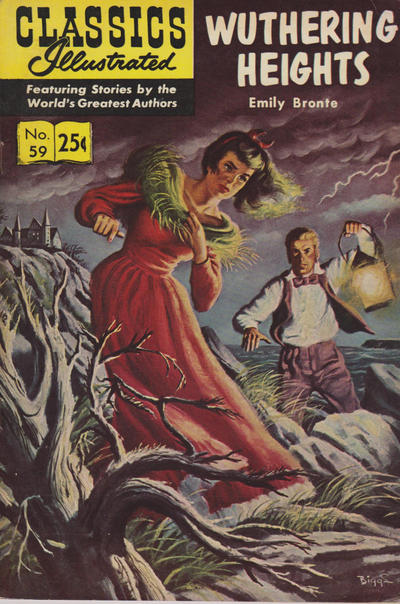 Cover for Classics Illustrated (Gilberton, 1947 series) #59 [HRN156] - Wuthering Heights