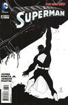 Cover for Superman (DC, 2011 series) #33 [John Romita Jr. / Klaus Janson Black & White Cover]