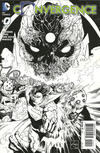 Cover for Convergence (DC, 2015 series) #0 [Black & White Ethan Van Sciver Cover]