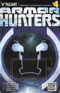 Cover Thumbnail for Armor Hunters (Valiant Entertainment, 2014 series) #4 [Cover B - QR Voice - Tom Fowler]