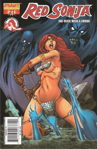Cover Thumbnail for Red Sonja (Dynamite Entertainment, 2005 series) #21 [Mel Rubi Cover]