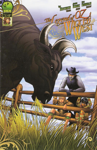 Cover for Legend of Oz: The Wicked West (Big Dog Ink, 2012 series) #10 [Cover B - Nei Ruffino]