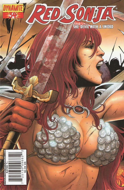 Cover for Red Sonja (Dynamite Entertainment, 2005 series) #34