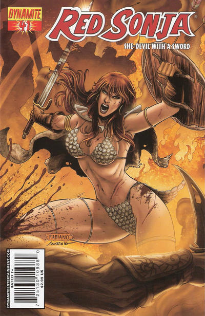 Cover for Red Sonja (Dynamite Entertainment, 2005 series) #41 [Cover A]