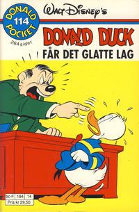 Cover Thumbnail for Donald Pocket (Hjemmet / Egmont, 1968 series) #114 - Donald Duck får det glatte lag [1. opplag]