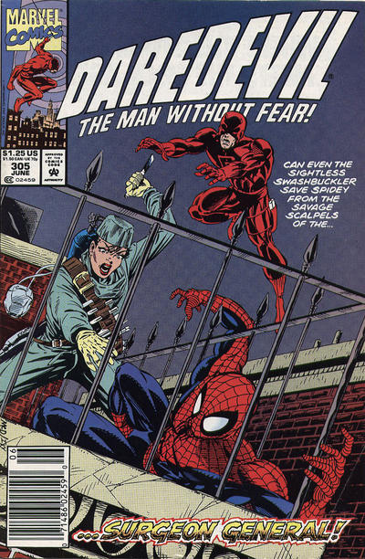 Cover for Daredevil (Marvel, 1964 series) #305 [Direct Edition]
