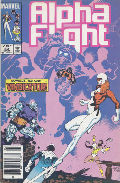 Cover for Alpha Flight (Marvel, 1983 series) #32 [Direct Edition]