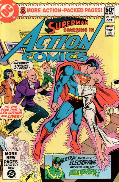 Cover for Action Comics (DC, 1938 series) #512 [Direct Sales Variant]