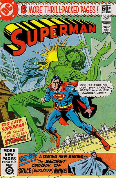 Cover for Superman (DC, 1939 series) #353 [Newsstand Edition]