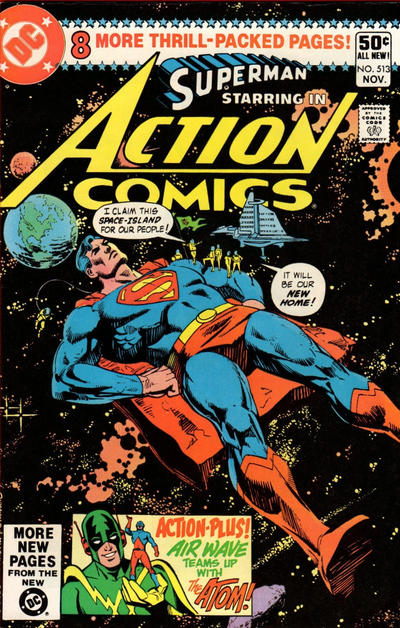 Cover for Action Comics (DC, 1938 series) #513 [Direct Sales Variant]