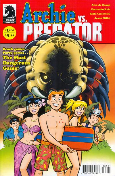 Cover for Archie vs. Predator (Dark Horse, 2015 series) #1 [Francesco Francavilla]