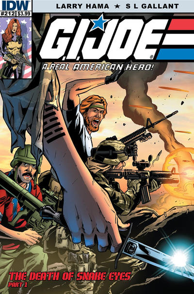 Cover for G.I. Joe: A Real American Hero (IDW, 2010 series) #212 [Cover RE - Emerald City Comics Exclusive Adam Riches Wraparound Variant]