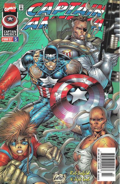 Cover for Captain America (Marvel, 1996 series) #5 [Newsstand]