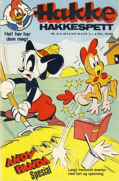 Cover for Hakke Hakkespett (Nordisk Forlag, 1973 series) #22/1974