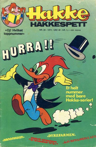 Cover for Hakke Hakkespett (Nordisk Forlag, 1973 series) #23/1974