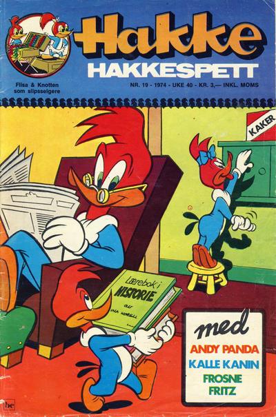 Cover for Hakke Hakkespett (Nordisk Forlag, 1973 series) #19/1974