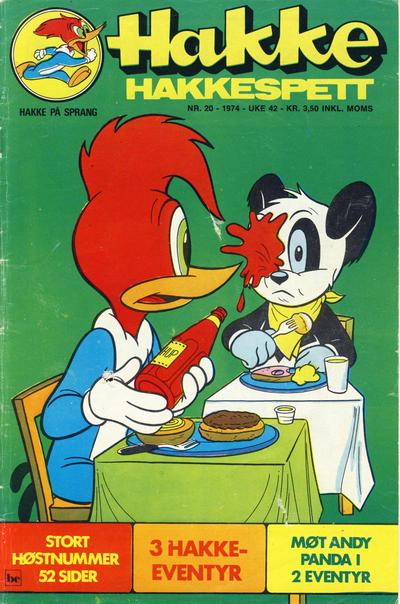 Cover for Hakke Hakkespett (Nordisk Forlag, 1973 series) #20/1974