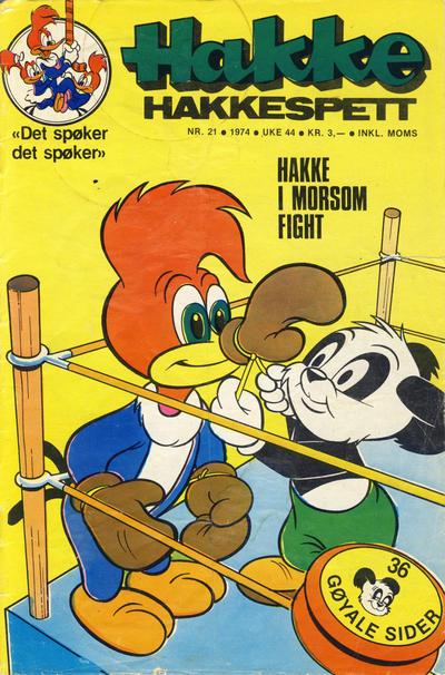 Cover for Hakke Hakkespett (Nordisk Forlag, 1973 series) #21/1974
