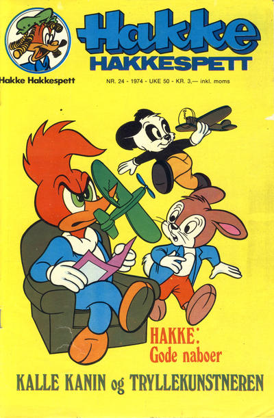 Cover for Hakke Hakkespett (Nordisk Forlag, 1973 series) #24/1974