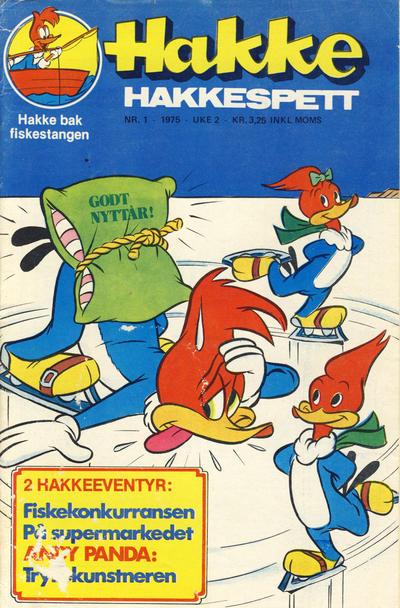 Cover for Hakke Hakkespett (Nordisk Forlag, 1973 series) #1/1975