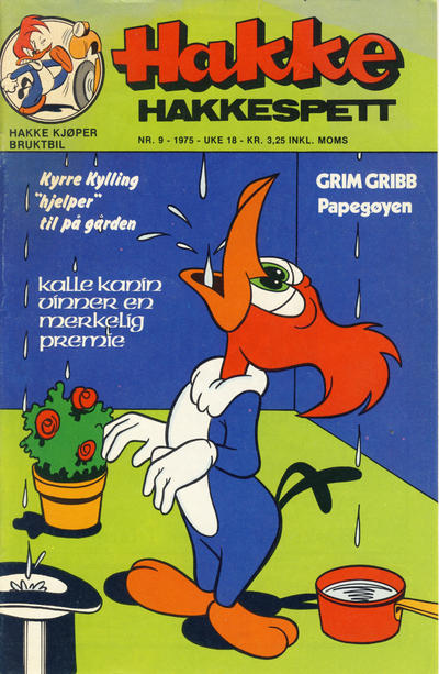 Cover for Hakke Hakkespett (Nordisk Forlag, 1973 series) #9/1975