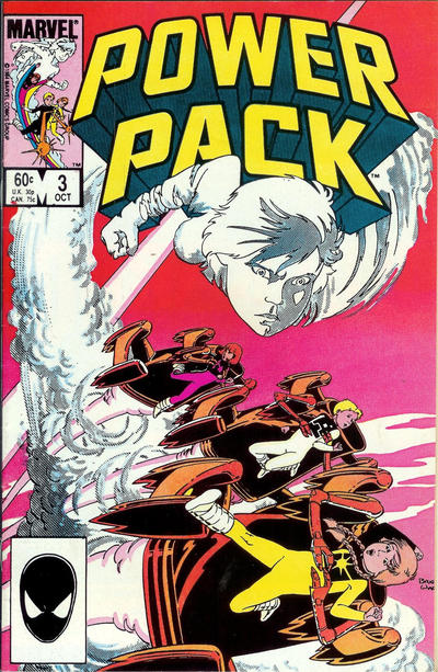 Cover for Power Pack (Marvel, 1984 series) #3 [Direct Edition]