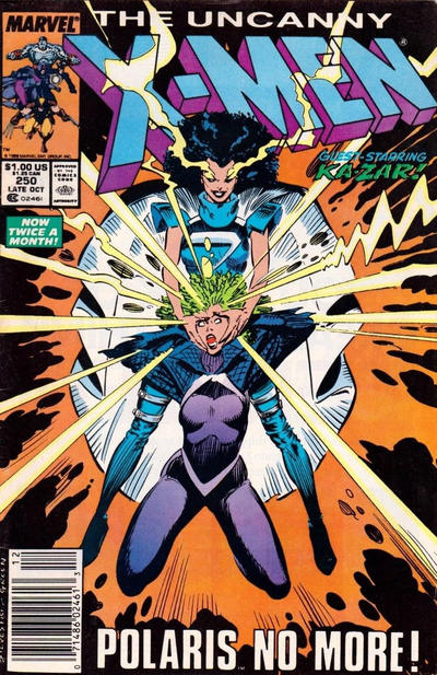 Cover for The Uncanny X-Men (Marvel, 1981 series) #250 [Newsstand]