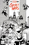 Cover Thumbnail for Secret Wars (2015 series) #1 [Chip Zdarsky Retailer Incentive Party Black and White Variant]
