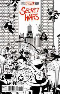 Cover Thumbnail for Secret Wars (Marvel, 2015 series) #1 [Chip Zdarsky Retailer Incentive Party Black and White Variant]