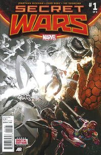 Cover Thumbnail for Secret Wars (Marvel, 2015 series) #1 [Retailer Incentive Alex Ross Fade Variant]