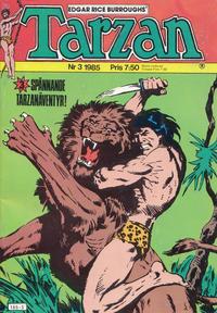 Cover Thumbnail for Tarzan (Atlantic Förlags AB, 1977 series) #3/1985