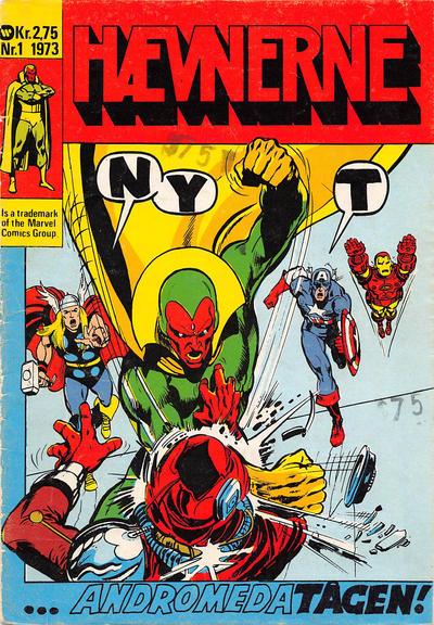 Cover for Hævnerne (Williams, 1973 series) #1/1973