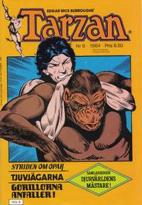 Cover Thumbnail for Tarzan (Atlantic Förlags AB, 1977 series) #6/1984