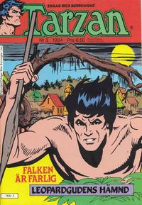 Cover Thumbnail for Tarzan (Atlantic Förlags AB, 1977 series) #3/1984