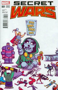 Cover Thumbnail for Secret Wars (Marvel, 2015 series) #1 [Skottie Young Babies Variant]